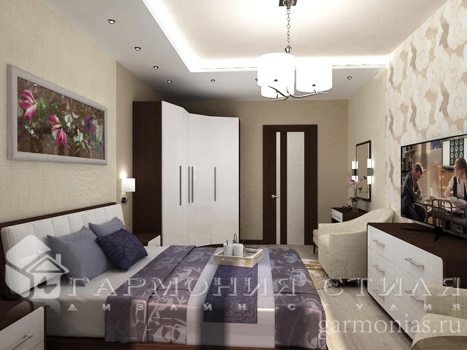 Дизайн интерьера квартиры : Спальня