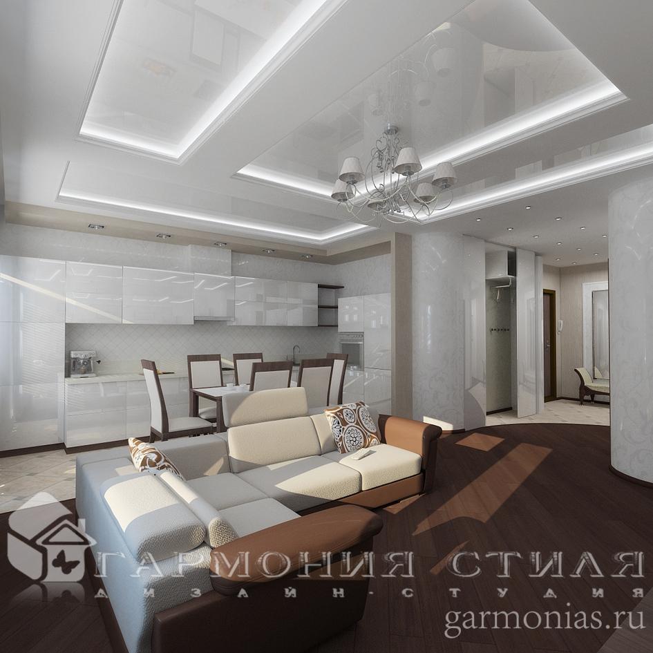 Дизайн интерьера квартиры : Кухня-студия
