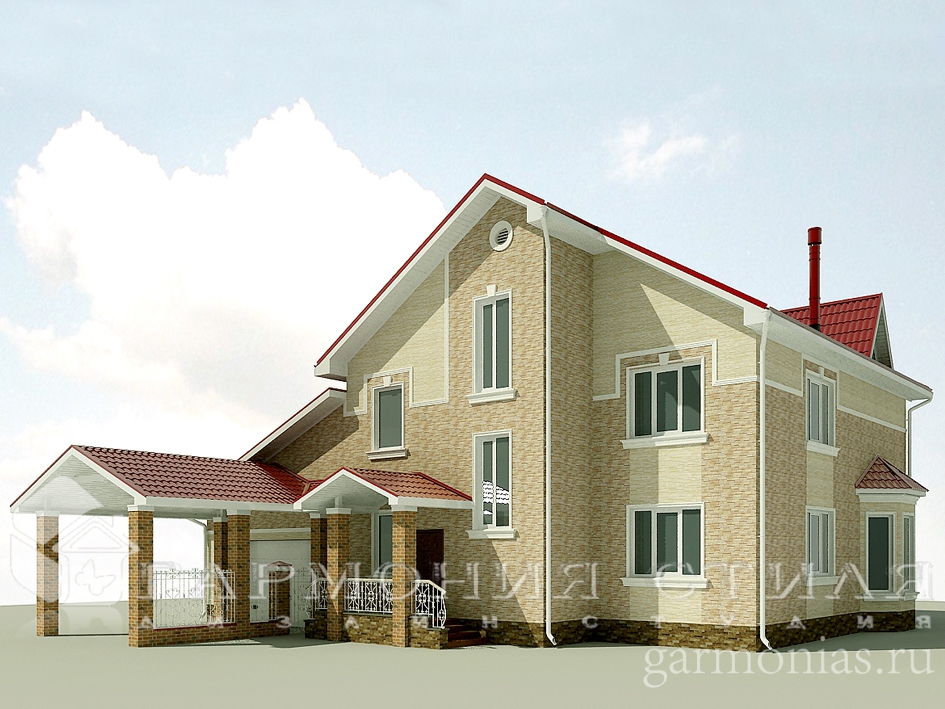 Дизайн фасада загородного дома