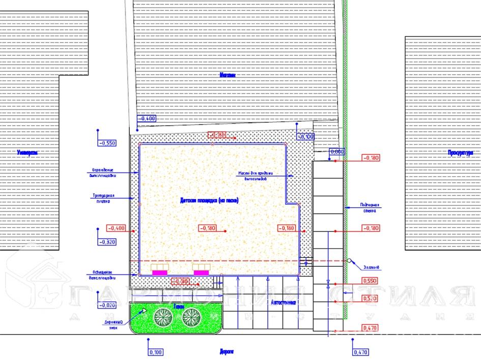 Благоустройство территории детской площадки: План